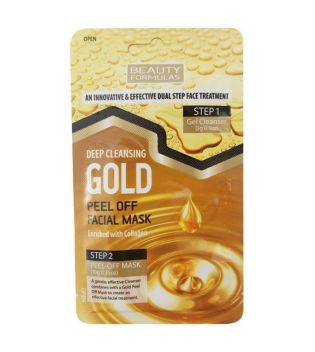 Beauty Formulas - Máscara peel-off para limpeza profunda - Gold
