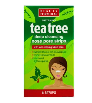 Beauty Formulas- Cleansing Nose Pore Strips Tea Tree