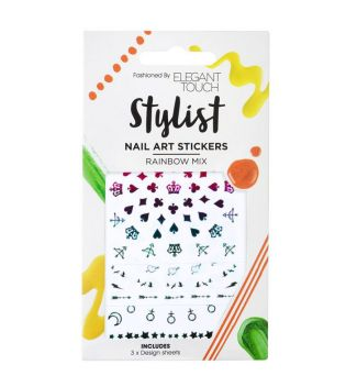 Elegant Touch - Nail Art Stickers - Rainbow Mix
