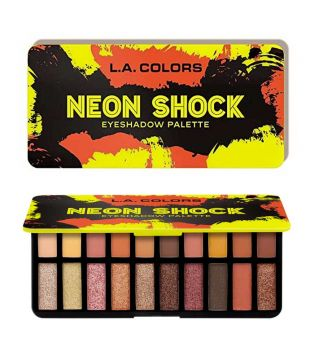L.A Colors - *Neon Shock* - Paleta de sombras Voltage