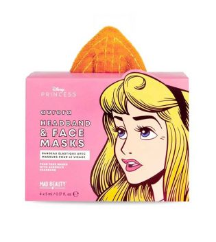 Mad Beauty - Definir máscara facial + bandana Disney POP - Aurora