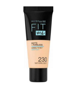 Maybelline - Fit Me Foundation Matte + Poreless - 230: Natural Buff
