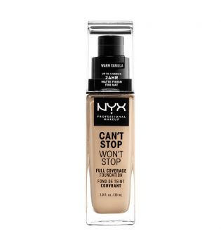 Nyx Professional Makeup - Base de maquilhagem Can't Stop won't Stop - CSWSF06.3: Warm vanillla