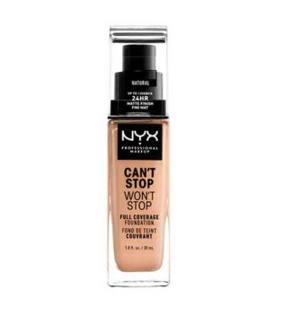 Nyx Professional Makeup - Base de maquilhagem Can't Stop won't Stop - CSWSF07: Natural