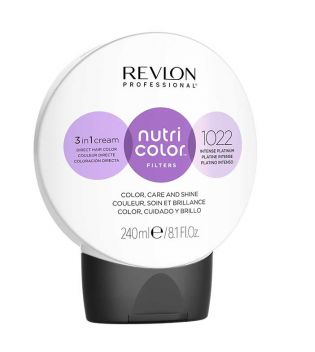 Revlon - Coloração Nutri Color Filters 3 en 1 Cream 240ml - 1022: Intensa Platina